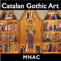 Photos of Medieval Gothic art at the National Museum of Calatan Art Barcelona