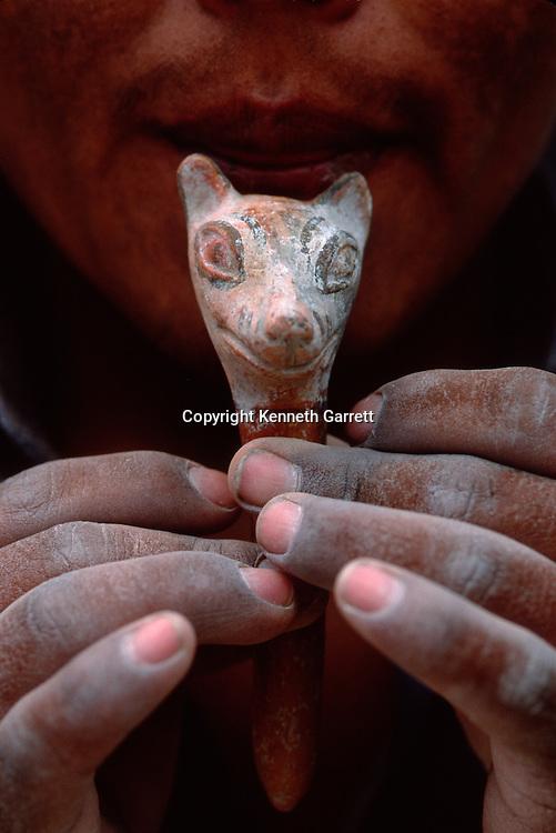 Wari fox whistle, Empires of the Sun; Peru; Wari; Huari