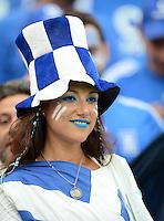 FUSSBALL  EUROPAMEISTERSCHAFT 2012   VORRUNDE Polen - Griechenland      08.06.2012 Weiblicher griechischer Fan