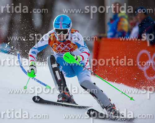 14.02.2014, Rosa Khutor Alpine Center, Krasnaya Polyana, RUS, Sochi 2014, Super- Kombination, Herren, Slalom, im Bild Otmar Striedinger (AUT) // Otmar Striedinger of Austria in action during the Slalom of the mens Super Combined of the Olympic Winter Games 'Sochi 2014' at the Rosa Khutor Alpine Center in Krasnaya Polyana, Russia on 2014/02/14. EXPA Pictures © 2014, PhotoCredit: EXPA/ Johann Groder
