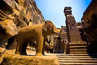 Kailasanatha Temple       Ellora World Heritage Site, India     8th Century Hindu Temple  Cave 16