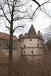 Červené Řečice, a rural village in southern Bohemia with a chateau ruin run by the Catholic Church, Czech Republic, Europe
