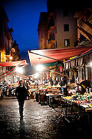 Il Capo markets in the historic centre of Palermo, Sicily, Itlay