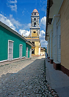 Iglesia y Convento de San Francisco Trinidad Cuba, Republic of Cuba, Bell tower of Museo Nacional de la Lucha contra Bandidos (formerly Convent of St Francis of Assisi) museum