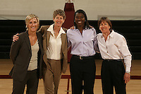 01 October 2007: (L-R): Kate Paye, Amy Tucker, Bobbie Kelsey, and Tara VanDerveer.