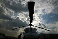 Out of the almost 500 helicopteros registerd in Sao Paulo, 13 belong to the police. They are known as the Aguia (eagle) helicopters.