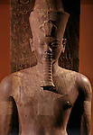 Quartzite statue of Amenhotep III as god Atum, New Kingdom