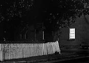 Fence at Night<br /> Richmond <br /> Tas