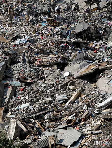 Following an October 8, 2005, earthquake, a scene from the devastated town of Balakot.