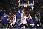 MILWAUKEE, WI - MARCH 16: Minnesota Gophers center Reggie Lynch (22) tries to block the shot of Middle Tennessee Blue Raiders forward JaCorey Williams (22) during the first half of the 2017 NCAA Men's Basketball Tournament held at BMO Harris Bradley Center on March 16, 2017 in Milwaukee, Wisconsin. (Photo by Jamie Schwaberow/NCAA Photos via Getty Images)