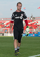 July 3, 2013: Toronto FC goalkeeper Stefan Frei #24 leaves the pitch after the warm-up during an MLS game between Toronto FC and Montreal Impact at BMO Field in Toronto, Ontario Canada.<br /> The game ended in a 3-3 draw.