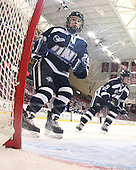 Emma Clark (UNH - 20), Katie Brock (UNH - 5) - The Boston College Eagles and the visiting University of New Hampshire Wildcats played to a scoreless tie in BC's senior game on Saturday, February 19, 2011, at Conte Forum in Chestnut Hill, Massachusetts.