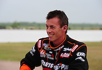 Apr. 30, 2011; Baytown, TX, USA: NHRA top fuel dragster driver Clay Millican during qualifying for the Spring Nationals at Royal Purple Raceway. Mandatory Credit: Mark J. Rebilas-