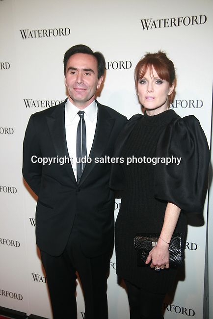 """Waterford CEO Pierre deVillemejane and Actress Attend Julianne Moore WATERFORD PRESENTS """"LIVE A CRYSTAL LIFE"""" WITH JULIANNE MOORE.  The Iconic House of Crystal Debuts Interiors, Waterford's Premier Home Décor Portfolio at Center 548, NY"""