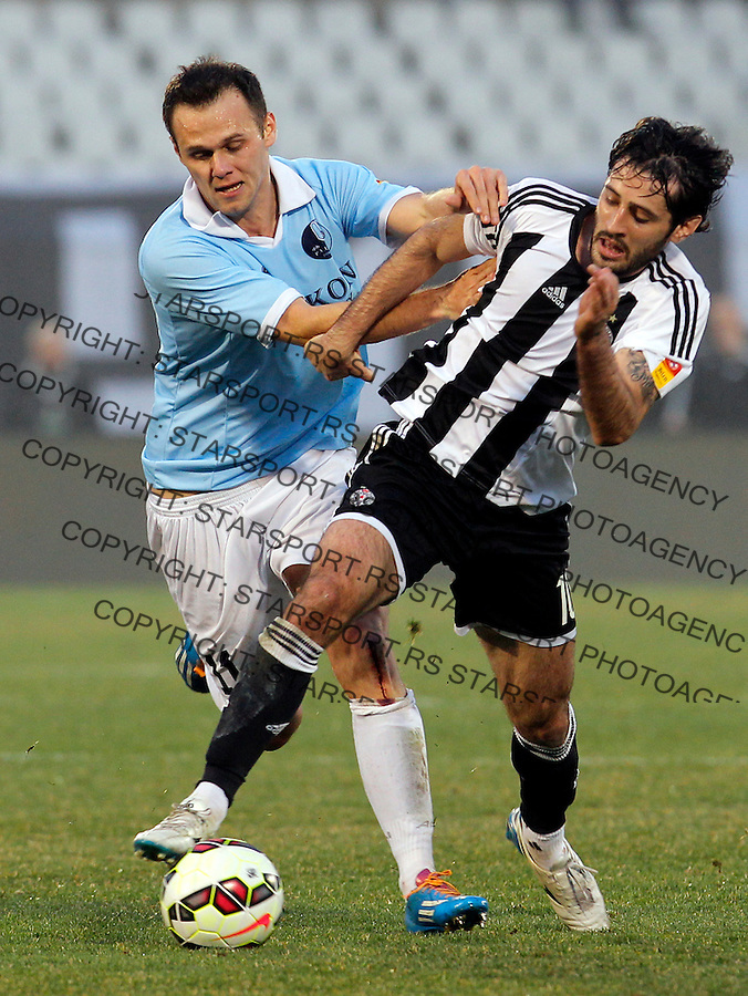 Branko Jelic Stefan Babovic JSL Jelen super liga Srbije Partizan - Rad 14.3.2015.  Beograd, Srbija March 12.2015.  (credit image & photo: Pedja Milosavljevic / STARSPORT)