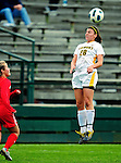 14 October 2010: University of Vermont Catamount defender Jill Dellipriscoli, a Sophomore from Montpelier, VT, in action against the University of Hartford Hawks at Centennial Field in Burlington, Vermont. The Hawks defeated the Lady Cats 6-2 in America East play. Mandatory Credit: Ed Wolfstein Photo