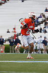 CHAPEL HILL, NC - APRIL 28: Rob Emery #24 of the Virginia Cavaliers playing the North Carolina Tar Heels on April 28, 2013 at Kenan Stadium in Chapel Hill, North Carolina. North Carolina won the ACC Championship with a 16-13 win. (Photo by Peyton Williams/Getty Images) *** Local Caption *** Rob Emery