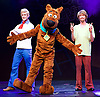 Scooby-Doo! Live Musical Mysteries <br /> at The Palladium, London, Great Britain <br /> press photocall <br /> 17th August 2016 <br /> <br /> Chris Warner Drake as Fred <br /> Joe Goldie as Scooby-Doo <br /> <br /> Charlie Haskins as Shaggy <br /> <br /> Photograph by Elliott Franks <br /> Image licensed to Elliott Franks Photography Services
