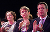 Ed Balls speech <br /> Labour Party Conference, Manchester, Great Britain <br /> 22nd September 2014 <br /> <br /> Ed Balls MP <br /> Shadow Chancellor<br /> Stability &amp; Prosperity debate<br /> <br /> Yvette Cooper <br /> watching speech <br /> <br /> <br /> Photograph by Elliott Franks <br /> Image licensed to Elliott Franks Photography Services