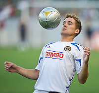 CARSON, CA - July 4, 2012: Philadelphia Union defender Chris Albright (3) prior to the LA Galaxy vs Philadelphia Union match at the Home Depot Center in Carson, California. Final score LA Galaxy 1, Philadelphia Union 2.