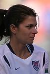 16 October 2004, Mia Hamm of the U.S. Women's National Team in their 1-0 defeat of Mexico at Arrowhead Stadium, Kansas City, Missouri..