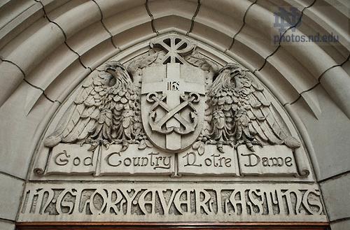 East Door of Basilica, &quot;God, Country, Notre Dame&quot;<br /> <br /> Photo by Matt Cashore/University of Notre Dame