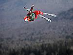 19 January 2008: Evelyne Leu from Switzerland jumps in the Qualification Round of the FIS World Cup Freestyle Ladies' Aerial Competition at the MacKenzie Ski Jump Complex in Lake Placid, New York, USA. Leu came fourth in the Qualifications, but moved up to third and a Bronze Medal in the finals. ..Mandatory Photo Credit: Ed Wolfstein Photo