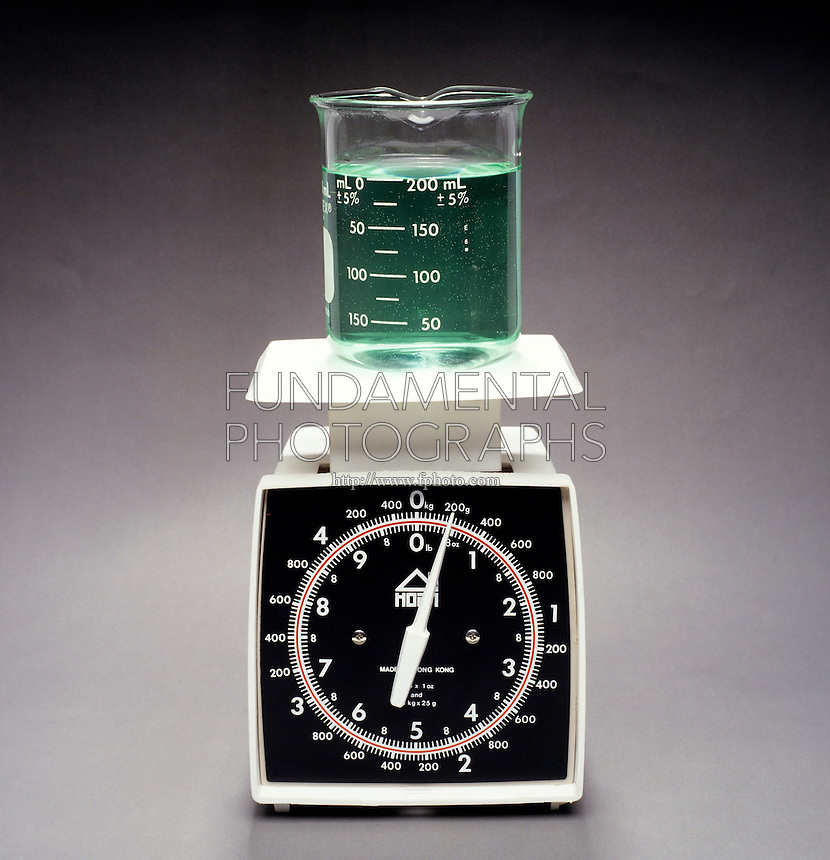 Scale Shows That 200ml Water Has Mass Of 200g