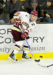 12 November 2010: Boston College Eagle forward Joe Whitney, a Senior from Reading, MA, in action against the University of Vermont Catamounts at Gutterson Fieldhouse in Burlington, Vermont. The Eagles edged out the Cats 3-2 in the first game of their weekend series. Mandatory Credit: Ed Wolfstein Photo