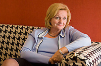 A spotlight interview with Senator Claire McCaskill. The senator from Missouri sits on five Senate Committees, including Armed Services, Commerce, Homeland Security and Government Affairs, Aging, and Indian Affairs. Interviewed by Amy Doolittle of Federal Times on Thursday, July 26, 2007. (James J. Lee / Times Staff).