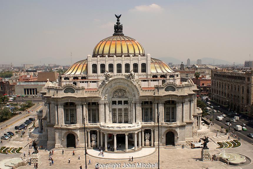 The Palacio de Bellas Artes or Fine Arts Palace in Mexico City.