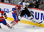 21 September 2009: Montreal Canadiens' defenseman Josh Gorges in action during the first period of a pre-season game against the Pittsburgh Penguins at the Bell Centre in Montreal, Quebec, Canada. The Canadiens edged out the defending Stanley Cup Champions 4-3. Mandatory Credit: Ed Wolfstein Photo