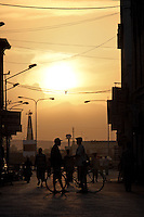 The sun sets on the coastal town of Massawa on the Red Sea, Eritrea..