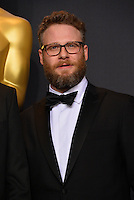 Seth Rogen in the photo room at the 89th Annual Academy Awards at Dolby Theatre, Los Angeles, USA 26 February  2017<br /> Picture: Paul Smith/Featureflash/SilverHub 0208 004 5359 sales@silverhubmedia.com