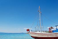 Traditional fishing boat in Aegina island, Greece