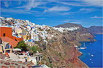 Santorini, Greece is a great, if not expensive, place to visit. The Aegean Sea is turquois and the buildings are pristine white, and if you like seafood, you are in the right place. The town of Oia is the jewel of the island, offering some of the best views in Greece.