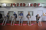 Voters cast their ballots at the Oxford Mall in Oxford, Miss. on Tuesday, November 6, 2012.