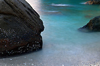 An Abstract shot of the rocks on the beach of Apo Island.