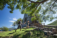 Hikers at Annaberg Plantation<br /> Virgin Islands National Park<br /> St. John, U.S. Virgin Islands
