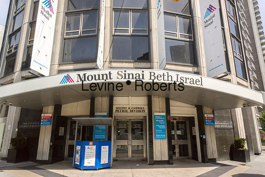 The Linsky Pavilion of Mt. Sinai Beth Israel Medical Center in New York on Saturday, May 14, 2016. The Villager, a local newspaper, has reported the Mt. Sinai is planning to close the iconic East Side hospital. The Mount Sinai Health System, the owner of this hospital and numerous others, has denied that it intends to close the facility. The 856 bed hospital has served the East Side of Manhattan for over 125 years. (© Richard B. Levine)