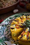 Causa Vegetariana, Restaurant  El Parador de Moray, Inca terraces of Moray,  Cusco Region, Urubamba Province, Machupicchu District, Peru