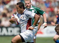 31 May 2009: Roland Suniula of USA rushes the ball to the endzone to score a touchdown during the second half of the Rugby game against Ireland at Buck Shaw Stadium in Santa Clara, California.   Ireland defeated USA, 27-10.