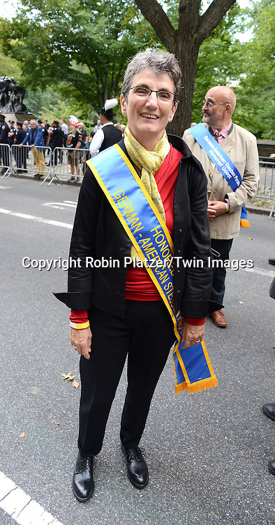 marchs in the Steuben Parade on Fifth Avenue in New York City on September 20. 2014. <br /> <br /> photo by Robin Platzer/Twin Images<br />  <br /> phone number 212-935-0770