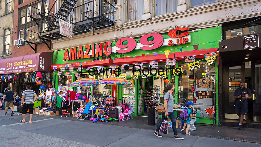 The Amazing 99 Cent store in the Greenwich Village neighborhood of  New York is seen on Tuesday July 12, 2016. (© Richard B. Levine)