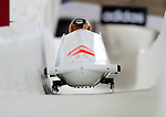 17 December 2010:  Anastasia Skulkina pilots her 2-man bobsled for Russia, finishing 9th for the day at the Viessmann FIBT World Cup Bobsled Championships in Lake Placid, New York, USA. The event was a Make-up Race from the previous week at Park City where the Women's Bobsled had to be cancelled due to severe snow conditions. Mandatory Credit: Ed Wolfstein Photo