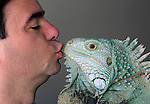 "Henry Lizardlover 7, and yes, that's his real name after legally changing it, smooches 16 pound ""Hasbro""! He has several dozen iguanas at home."