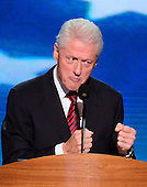 Former United States President Bill Clinton delivers remarks at the 2012 Democratic National Convention in Charlotte, North Carolina on Wednesday, September 5, 2012.  .Credit: Ron Sachs / CNP.(RESTRICTION: NO New York or New Jersey Newspapers or newspapers within a 75 mile radius of New York City)