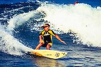 Brad Gerlach (USA) free surfing at Durban South Africa. circa 1991 Photo: joliphotos.com