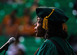Commissioned by Florida A&amp;M University<br /> <br /> Dr Elmira Mangum speaks after her inauguration as FAMU's 11th president on the FAMU campus in Tallahassee, FL October 3, 2014.