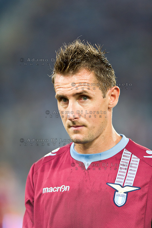 Juventus beat Lazio 4-0 in the Italian Supercoppa final match in Rome, Italy, on August 18, 2013. In the photo: Miroslav Klose Lazio. Photo: Adamo Di Loreto/BuenaVista*photo
